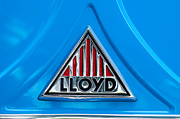 Lloyd Framed Prints - 1960 Lloyd 600 Van Emblem Framed Print by Jill Reger
