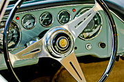 1960 Photos - 1960 Maserati Steering Wheel Emblem by Jill Reger