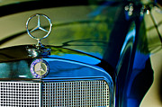 Beach Photographs Posters - 1960 Mercedes-Benz 220 SE Convertible Hood Ornament Poster by Jill Reger