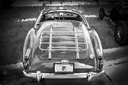 Polished Paint Framed Prints - 1960 MGA 1600 Convertible BW Framed Print by Rich Franco
