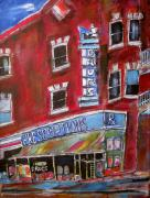 Michael Litvack Art - 1960 Pharmacy St. Viateur by Michael Litvack