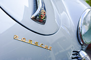 Roadster Photos - 1960 Porsche 356 B 1600 Super Roadster Hood Emblem by Jill Reger