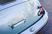 Classic Porsche 356 Photos - 1960 Porsche 356 B 1600 Super Roadster Rear Emblem - Taillight by Jill Reger