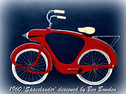 Midcentury Mixed Media Posters - 1960 Spacelander Bicycle Poster by Karyn Robinson