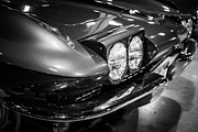 Sportscar Art - 1960s Corvette in Black and White by Paul Velgos