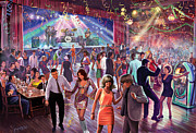 1960 Digital Art Posters - 1960s Dance Scene Poster by Steve Crisp