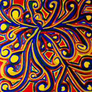 60s Paintings - 1960s Paisley  by Eunice Broderick