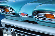 Classic Car Photography Art - 1961 Chevrolet Headlights by Jill Reger