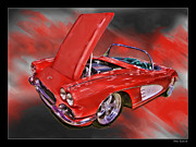 Blake Richards Framed Prints - 1961 Chevy Corvette Framed Print by Blake Richards
