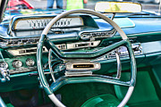 Retro Car Photos - 1961 Dodge Pioneer Dashboard by Paul Ward