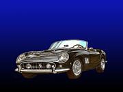 Sports Cars Paintings - 1961 Ferrari 250 G T CALIFORNIA by Jack Pumphrey