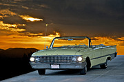 Family Car Prints - 1961 Ford Galaxie Starliner Convertible Print by Dave Koontz