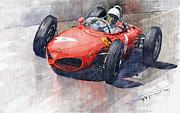 1961 Germany Gp Ferrari 156 Phil Hill Print by Yuriy Shevchuk