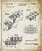 1961 Lego Patent Print by Digital Reproductions