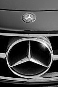 Mercedes Benz 300 Sl Classic Car Photos - 1961 Mercedes-Benz 300 SL Grille Emblem by Jill Reger