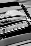 Dashboard Prints - 1961 Mercedes-Benz 300 SL Roadster Dashboard Emblem Print by Jill Reger