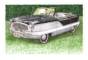 Framed Art Paintings - 1961 Nash Metro Convertible by Jack Pumphrey