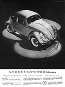 Original Vw Beetle Posters - 1961 Volkswagen Beetle Poster by Digital Repro Depot