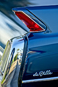 Collector Car Metal Prints - 1962 Cadillac Deville Taillight Metal Print by Jill Reger