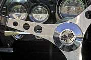 1962 Photos - 1962 Chevrolet Corvette Convertible Steering Wheel by Jill Reger