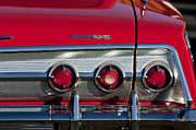 1962 Photos - 1962 Chevrolet Impala SS Taillight Emblem by Jill Reger
