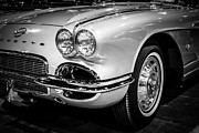 Sportscar Art - 1962 Corvette Black and White Picture by Paul Velgos