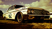 Historic Nascar Posters - 1962 Ford Galaxie 500 Poster by Phil