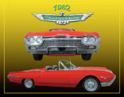 Posters And Posters - 1962 Ford T-Bird Sport Poster by Jack Pumphrey