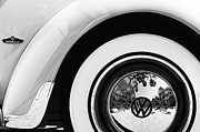 1962 Photos - 1962 Volkswagen VW Beetle Cabriolet Wheel Emblem by Jill Reger