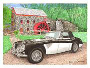 Watercolor Art Prints Posters - 1963 Austin and Sudbury Mill Poster by Jack Pumphrey