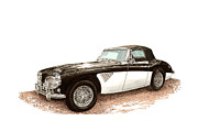 Images Painting Metal Prints - 1963 Austin Healey Metal Print by Jack Pumphrey