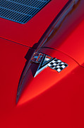 Collector Hood Ornaments Prints - 1963 Chevrolet Corvette Hood Emblem Print by Jill Reger
