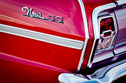 Convertible Framed Prints - 1963 Chevrolet Nova Convertible Taillight Emblem Framed Print by Jill Reger