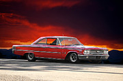 Rally Metal Prints - 1963 Ford Galaxie 427 Metal Print by Dave Koontz
