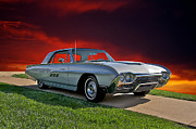 Family Car Prints - 1963 Ford Thunderbird Print by Dave Koontz