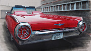 1963 Ford Mixed Media Prints - 1963 Ford Thunderbird Print by Paul Kuras