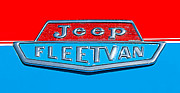 Featured Art - 1963 Jeep Fleetwood Emblem by Jill Reger