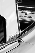 Mercedes Benz 300 Sl Classic Car Prints - 1963 Mercedes-Benz 300 SL Roadster Emblems Print by Jill Reger