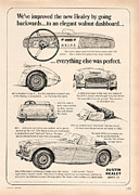 Old Auto Posters - 1964 Austin Healey Poster by Nomad Art And  Design