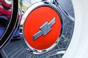 Chevy Pickup Photo Prints - 1964 Chevrolet Pickup Truck K 10 Wheel Emblem Print by Jill Reger