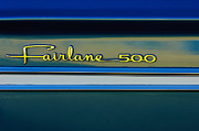 Fairlane Photos - 1964 Ford Fairlane 500 Emblem by Jill Reger