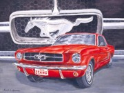 Ford Mustang Painting Framed Prints - 1964 Stang Framed Print by Rick Spooner