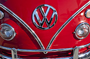 Car Emblems Prints - 1964 Volkswagen VW Double Cab Emblem Print by Jill Reger