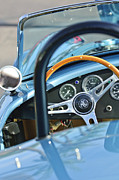 Cobra Photo Posters - 1965 AC Cobra Steering Wheel 4 Poster by Jill Reger