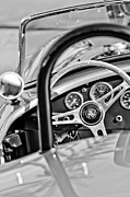 Cobra Photo Posters - 1965 AC Cobra Steering Wheel Poster by Jill Reger