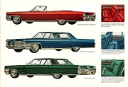 Old Auto Posters - 1965 Cadillac Poster by Nomad Art And  Design