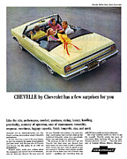 1967 Chevy Chevelle Ss Framed Prints - 1965 Chevelle Convertible Framed Print by Digital Repro Depot
