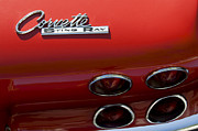 Tail Photos - 1965 Chevrolet Corvette Taillight Emblem by Jill Reger