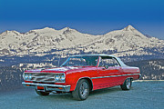 Family Car Framed Prints - 1965 Chevrolet Malibu Framed Print by Dave Koontz