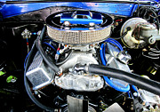 Quad Prints - 1965 Chevy Chevelle - Under The Hood Print by Margaret Newcomb